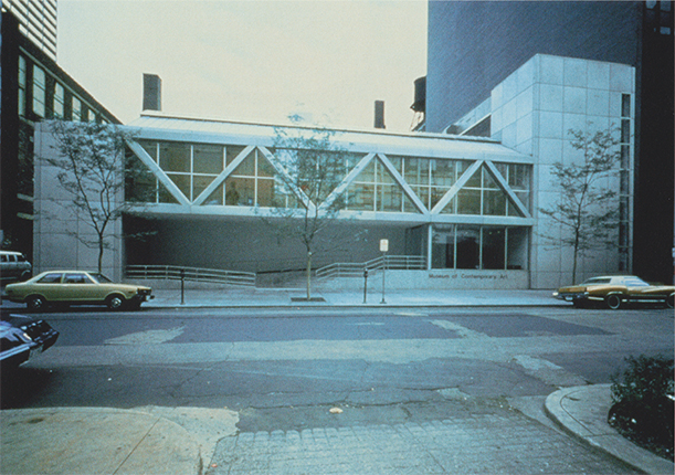 Michael Asher, 'The Museum of Contemporary Art, Chicago, Illinois, U.S.A., June 8 - August 12, 1979', 1979, in storage, outside view