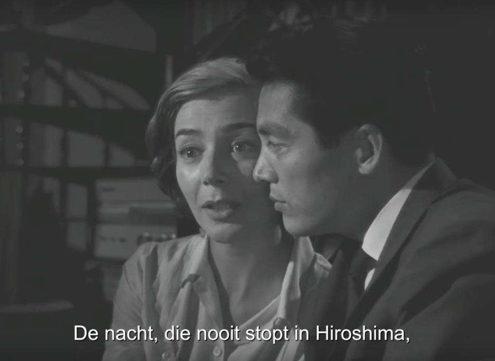 A scene of the film, 'hiroshima mon amour', 1959