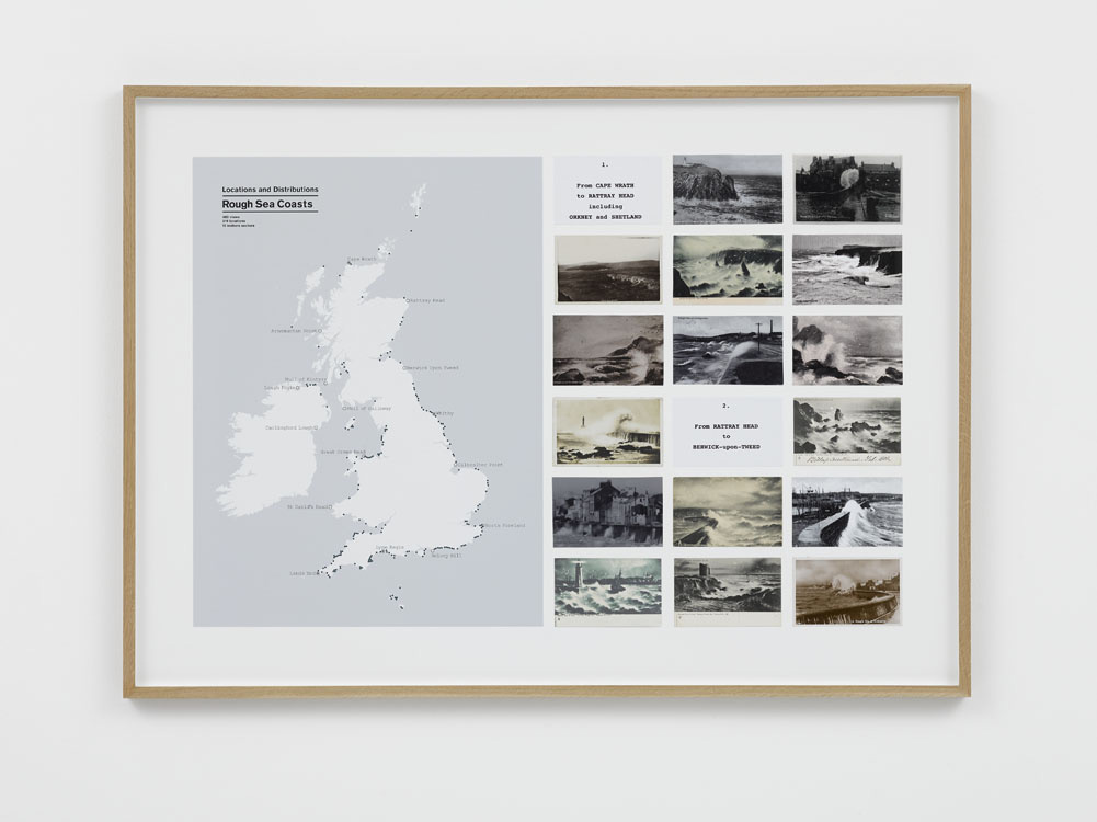 Susan Hiller, On the Edge, Rough Sea postcards, 2015