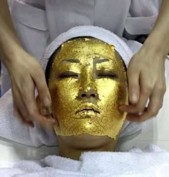 24 karat gold facial, a skin rejuvenating treatment