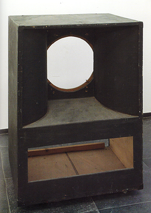 Maurice Blaussyld, 'Sans Titre', 1987, okoumé, poplar, black alkyd resin, 110 x 76,5 x 61 cm (S.M.A.K. acquired 1998) Photo: Dirk Pauwels
