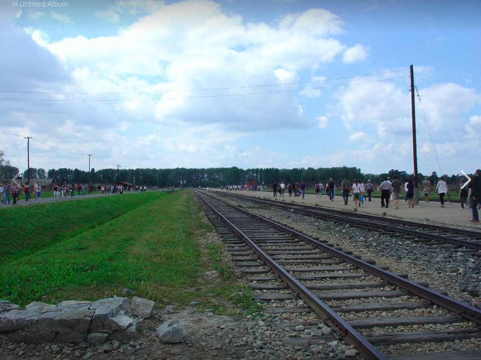 A holiday photo in the Auschwitz Concentration Camp, (Photo from Facebook), August 2012