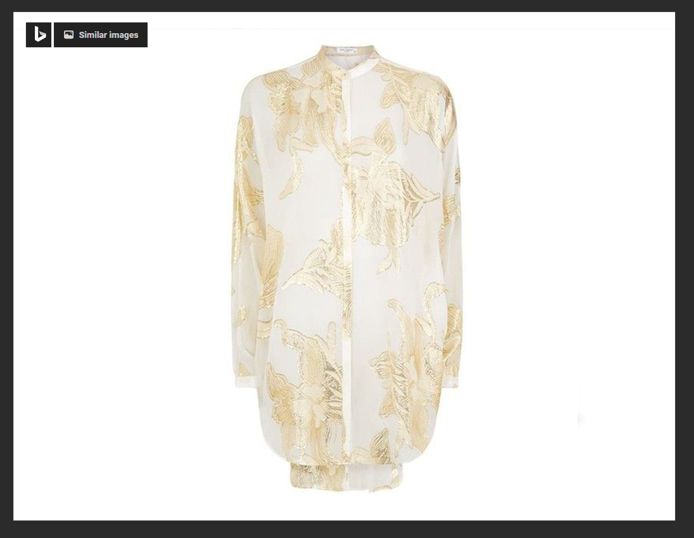 Equipment Gold Flower Elsie Shirt