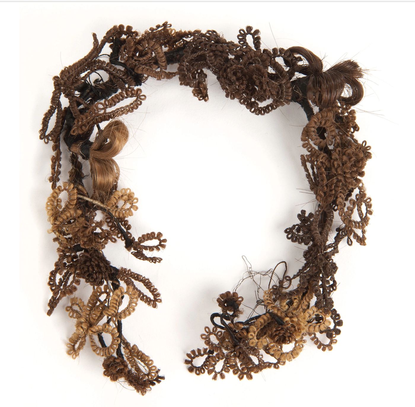 National Geographic, Victorian-era jewelry made from hair. Courtesy of the Minnesota Historical Society.