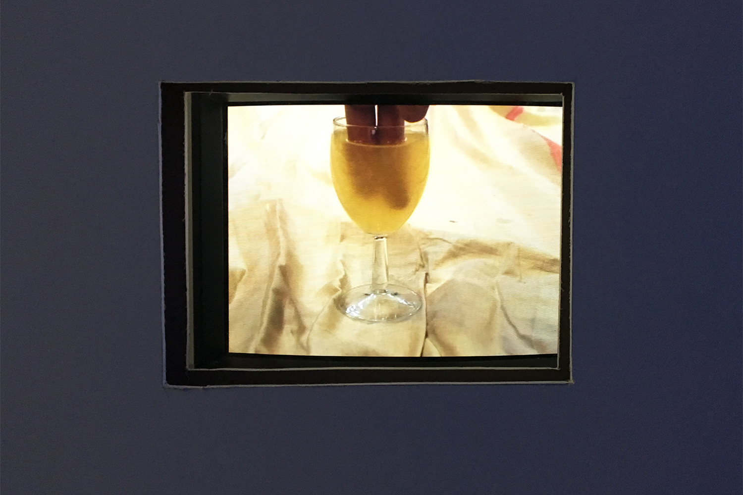 Laure Prouvost, Glass of Champagne, 2007