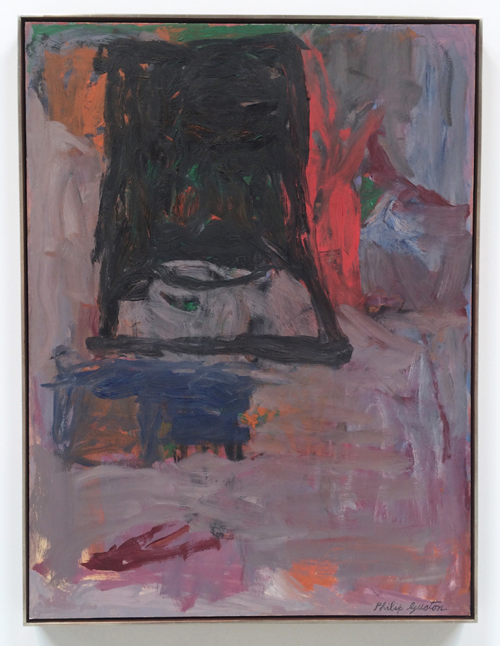 8) Philip Guston, Slope II, 1961, oil on paper mounted on canvas, 40 x 30 in., 2016, Hauser & Wirth, NYC