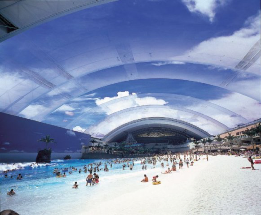 Indoor beach, Japan