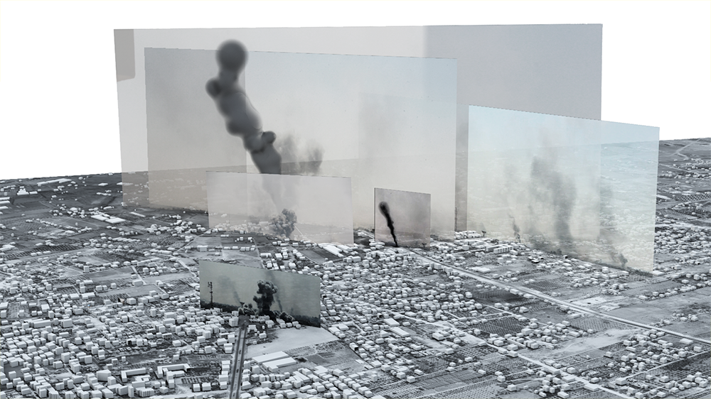 Forensic Architecture - 'The bombing of Rafah, Gaza, Palestine, 1 August 2014 - 2015