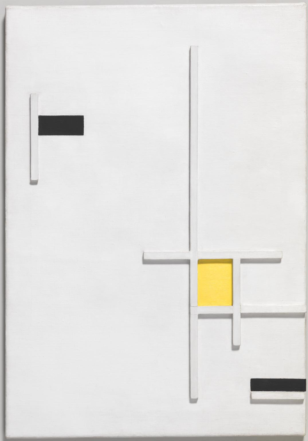 Marlow Moss, Composition in Yellow, Black and White, 1949.