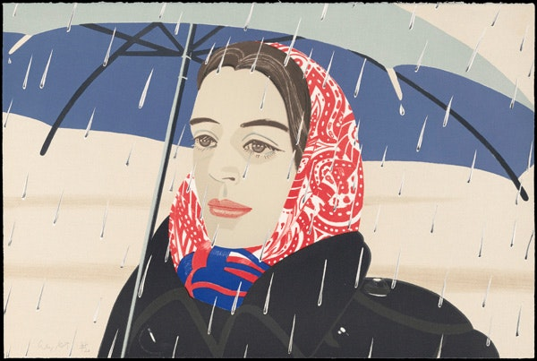 Blue Umbrella - Alex Katz
