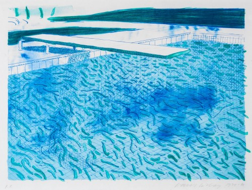 David Hockney, Swimming Pool, 1978-80