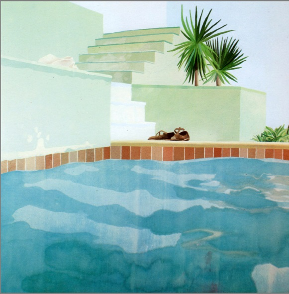 David Hockney, Pool and Steps, Le Nid du Duc, 1971