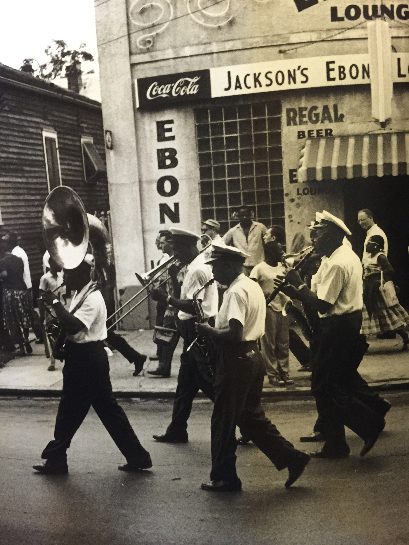 William Claxton, The George Williams Brass Band, from the book: New Orleans 1960