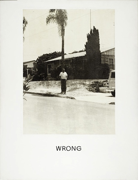 John Baldessari, Wrong (1967)