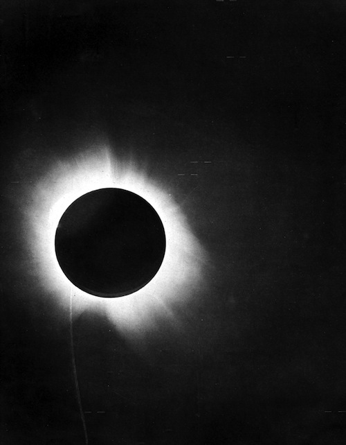 Solar eclipse (bended light) by Arthur Eddington, 1919