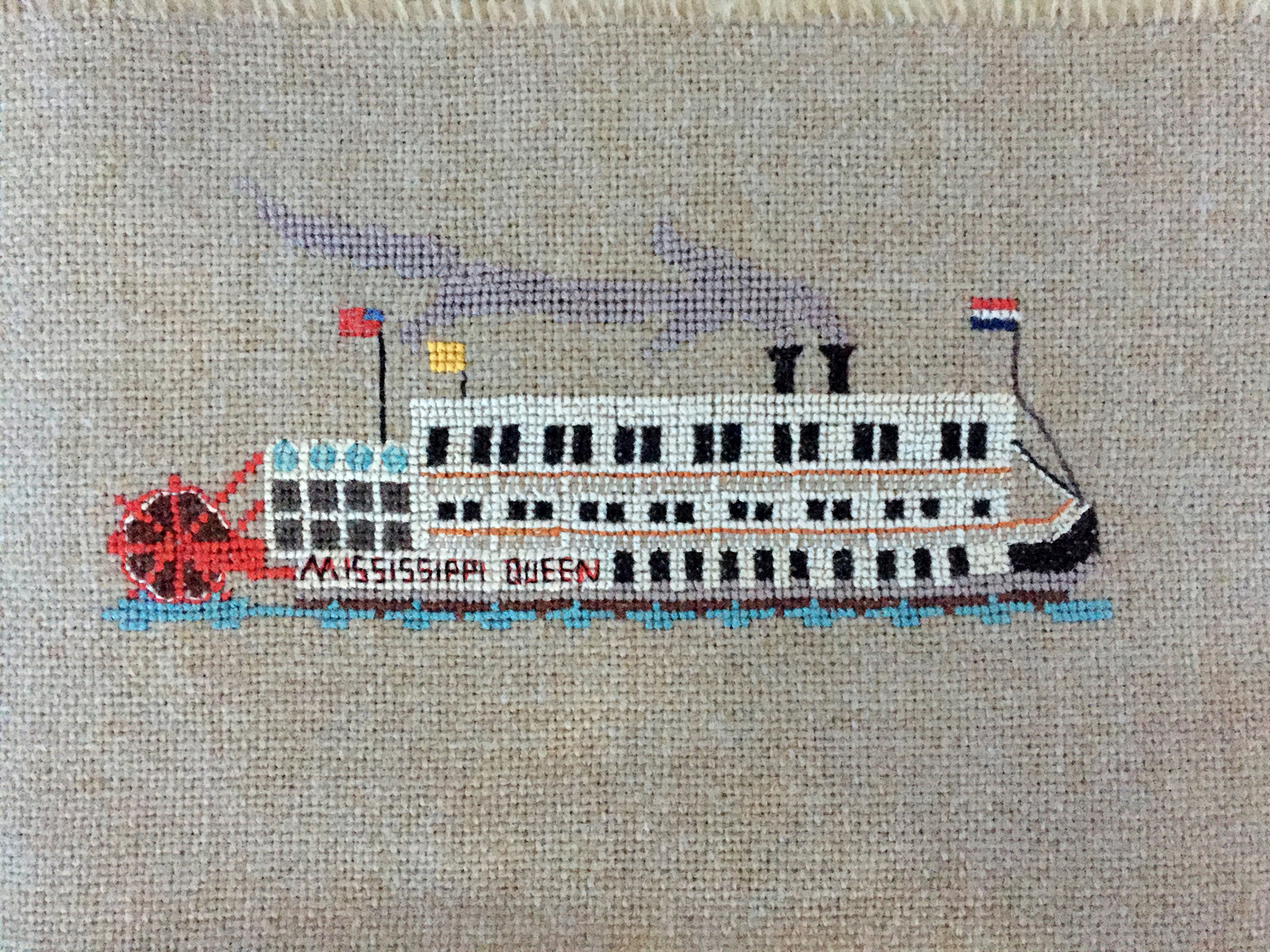 Mississippi Queen, hand stitched by Ms. Tremaine