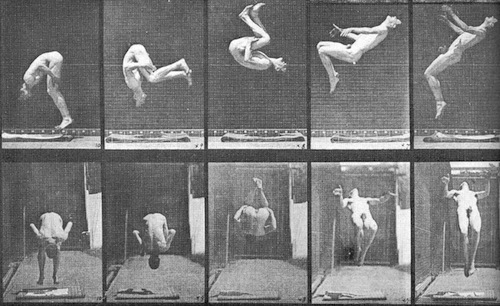 Somersault by Eadweard Muybridge, 1884-86