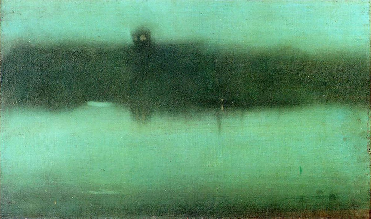James McNeill Whistler - Nocturne Grey and Silver - 51x31cm Olieverf op canvas, 1873-1875
