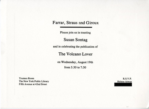 The volcano lover by Susan Sontag, 1992