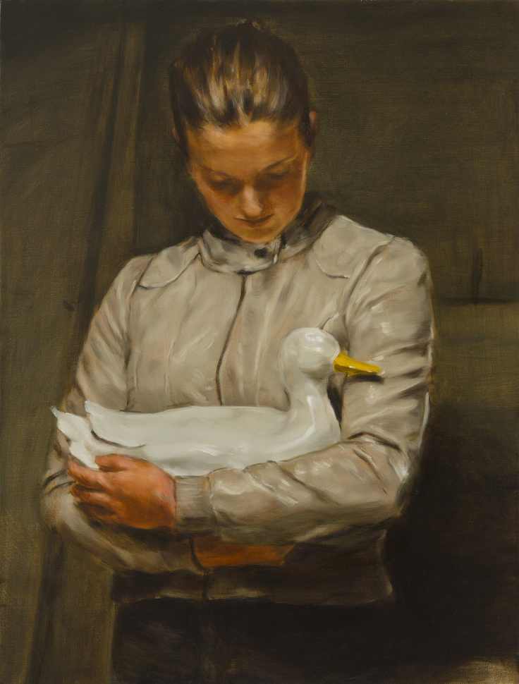 Michaël Borremans, Girl With Duck, 2010