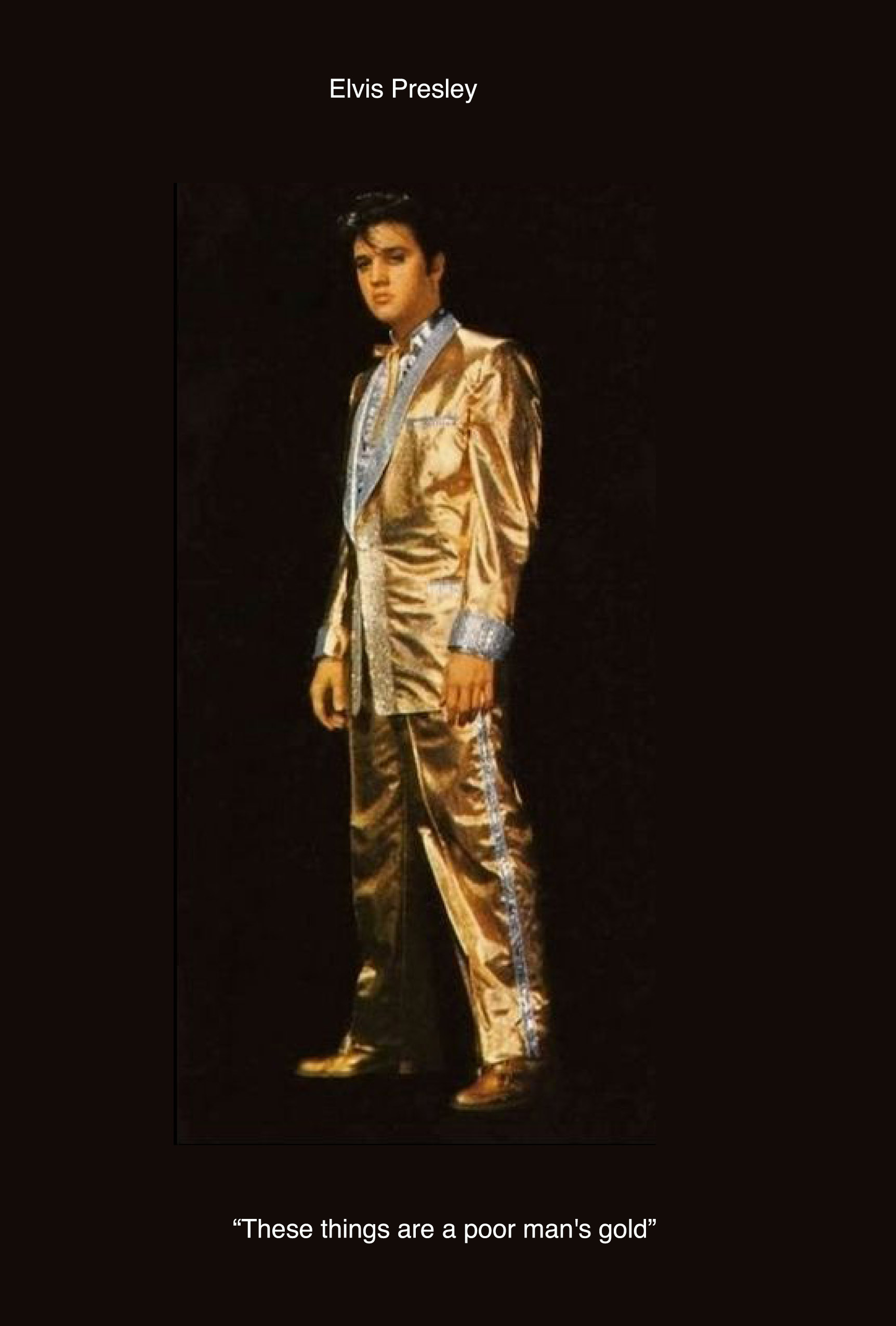 Elvis Presley, Golden suit