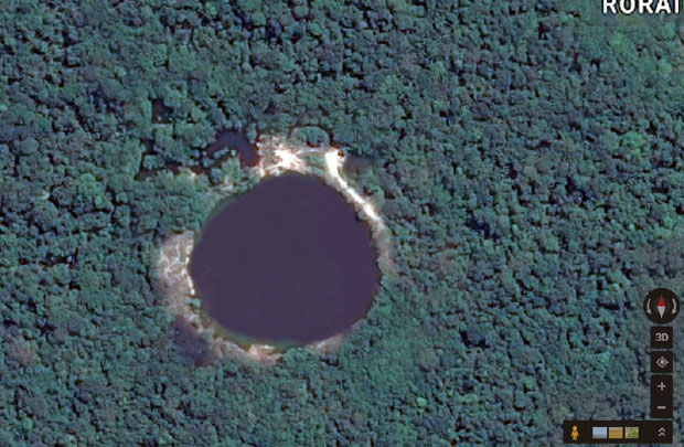 It took a lot of searching on Google Maps to find this lake