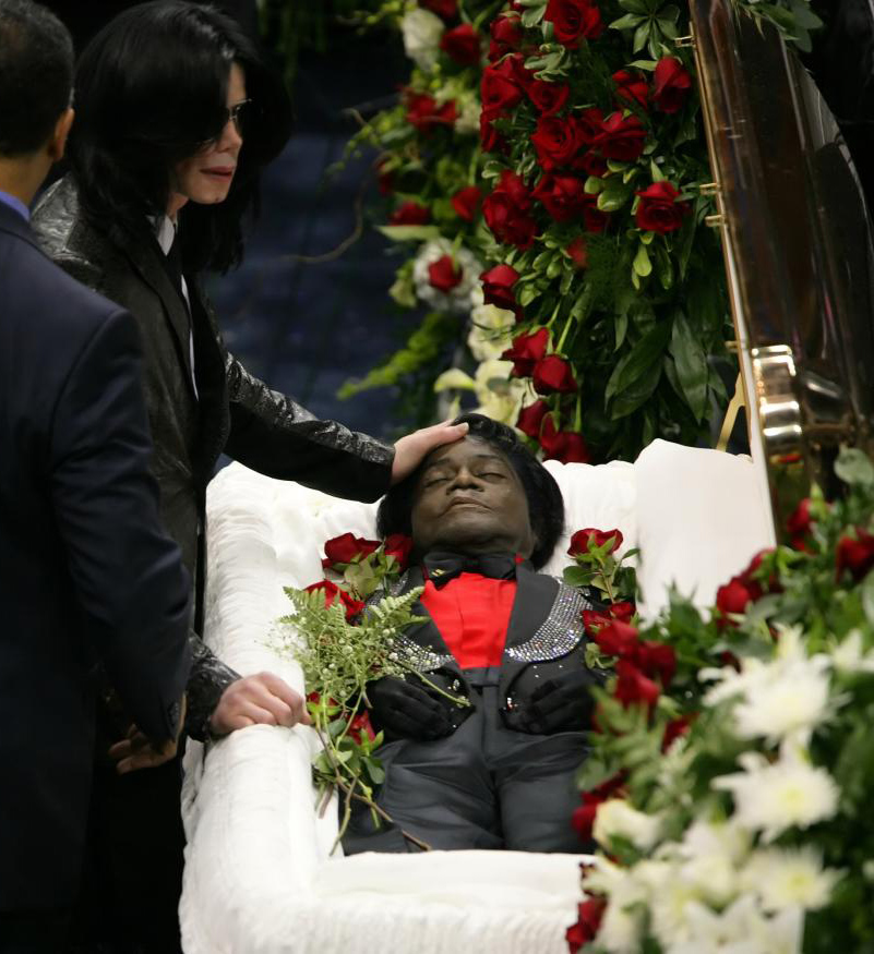 James Brown lying in state