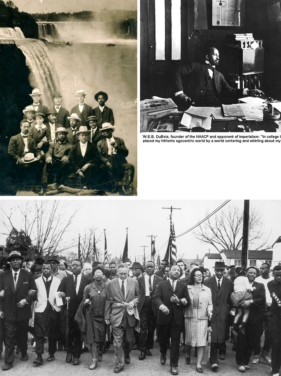 NAACP, W.E.B. Du Bois, M.L. King jr.