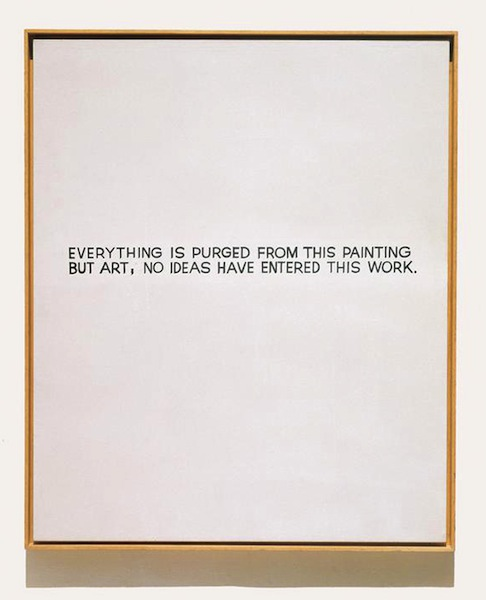 John Baldessari, Everything is Purged from this Painting (1968)