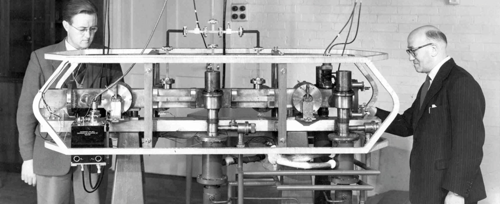 the atomic clock in 1955