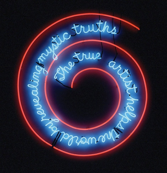 Bruce Nauman, The True Artist Helps (1967)