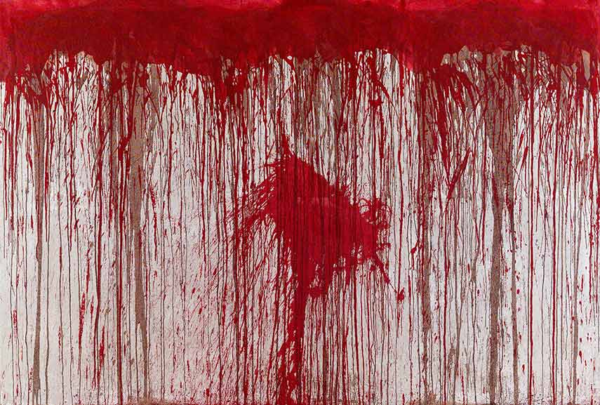 Viennese Actionism - Hermann Nitsch – Poured Painting (ca. 1963)