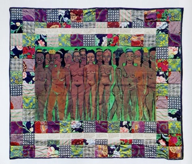 Faith Ringgold's Over 100 Pound Weight Loss Performance Story Quilt, 1991