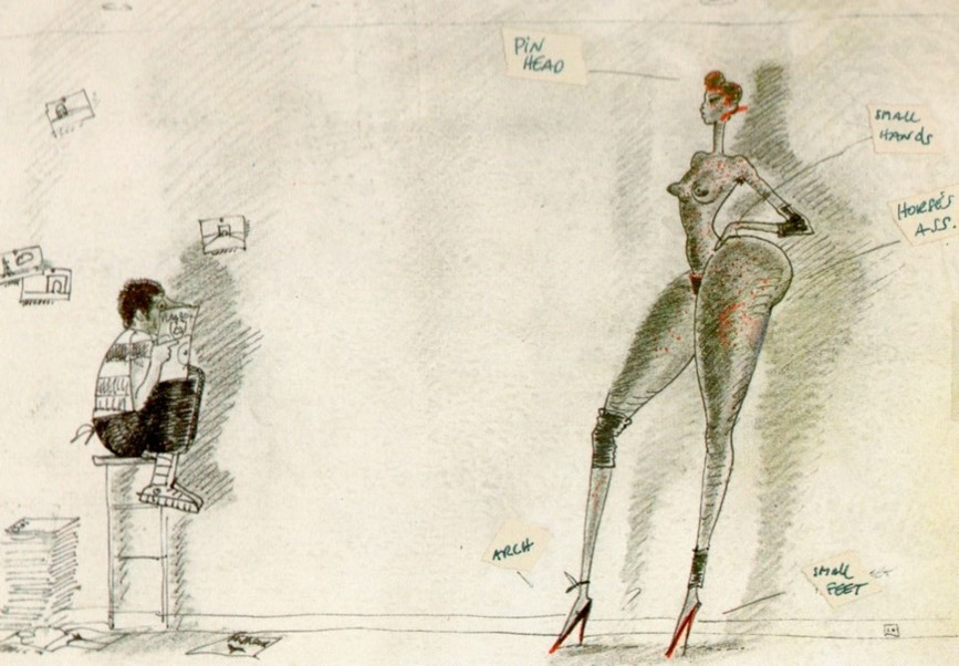 Jean Paul Goude's drawing of the perfect Black Woman