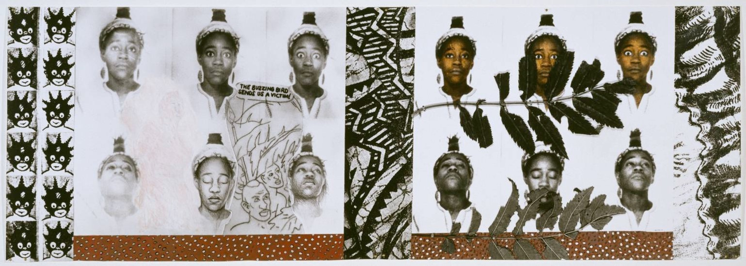 Sonia Boyce From Tarzan to Rambo: English Born 'Native' Considers her Relationship to the Constructed/Self Image and her Roots in Reconstruction 1987