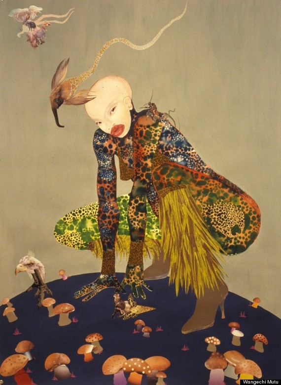 Wangechi Mutu (Kenyan, b. 1972). Riding Death in My Sleep, 2002.