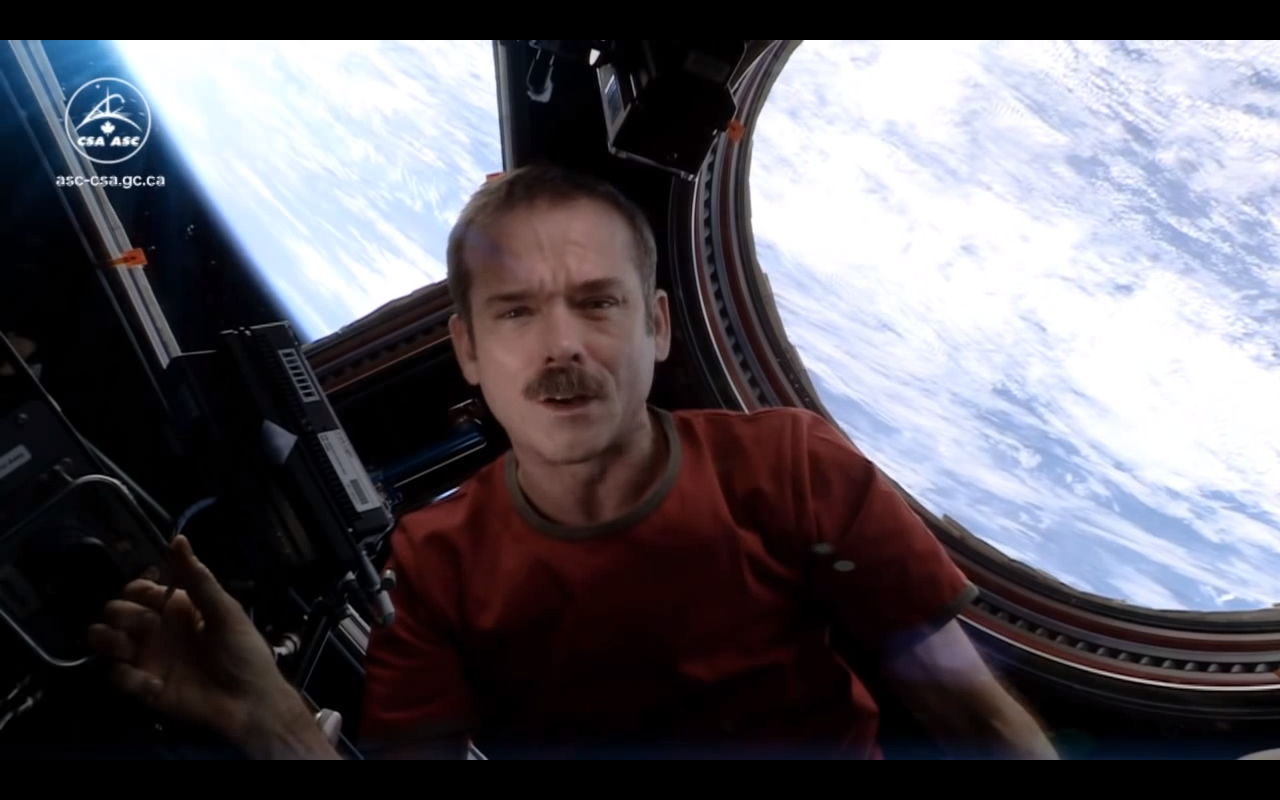 Chris Hadfield (astronaut) Cover of Space Oddity http://www.youtube.com/watch?v=KaOC9danxNo