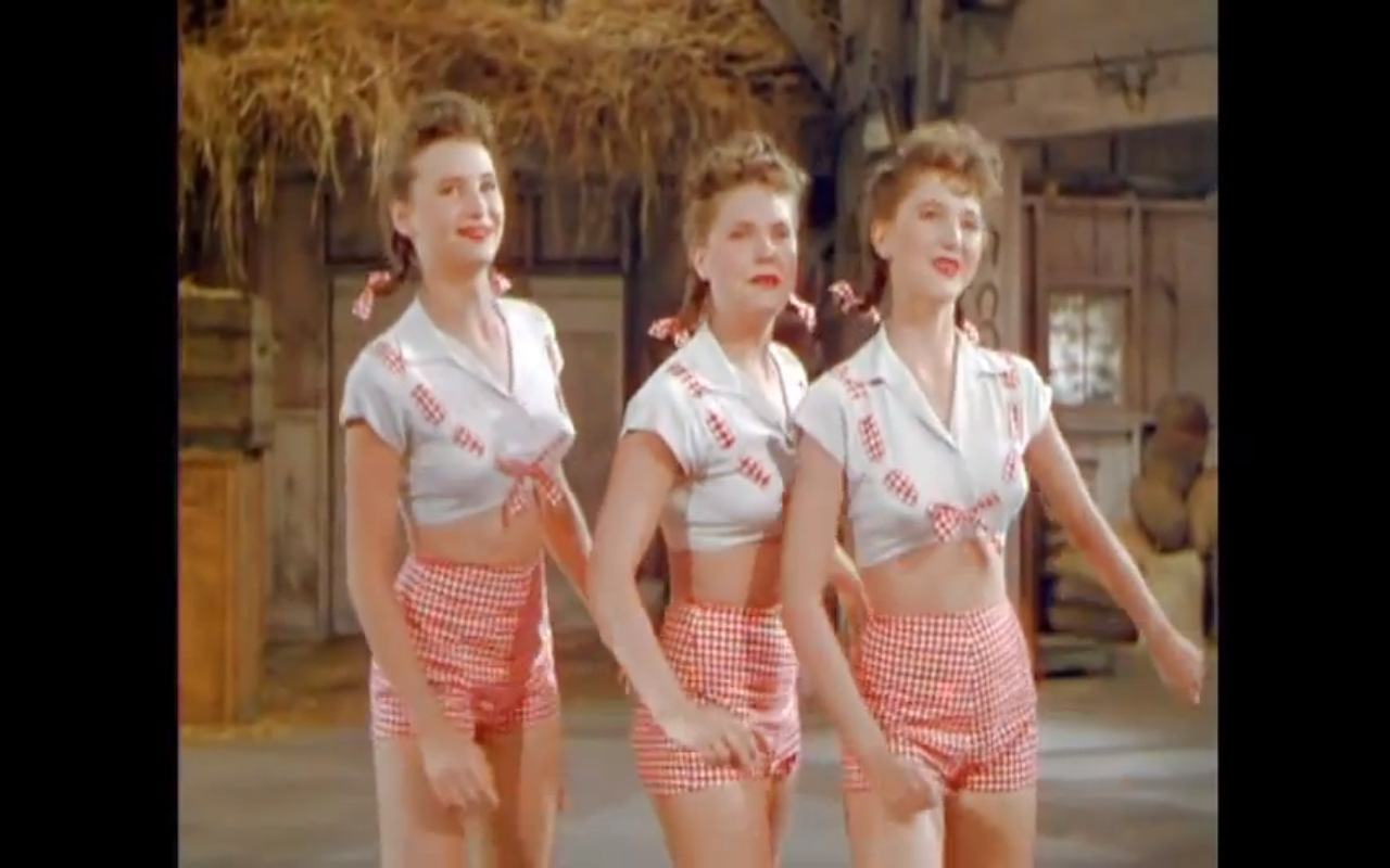 The Ross Sisters Solid Potato Salad, film fragment, 1944 - http://www.youtube.com/watch?v=d1J3NLNWAPU