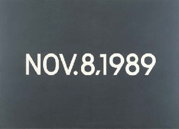 On Kawara – NOV.8,1989