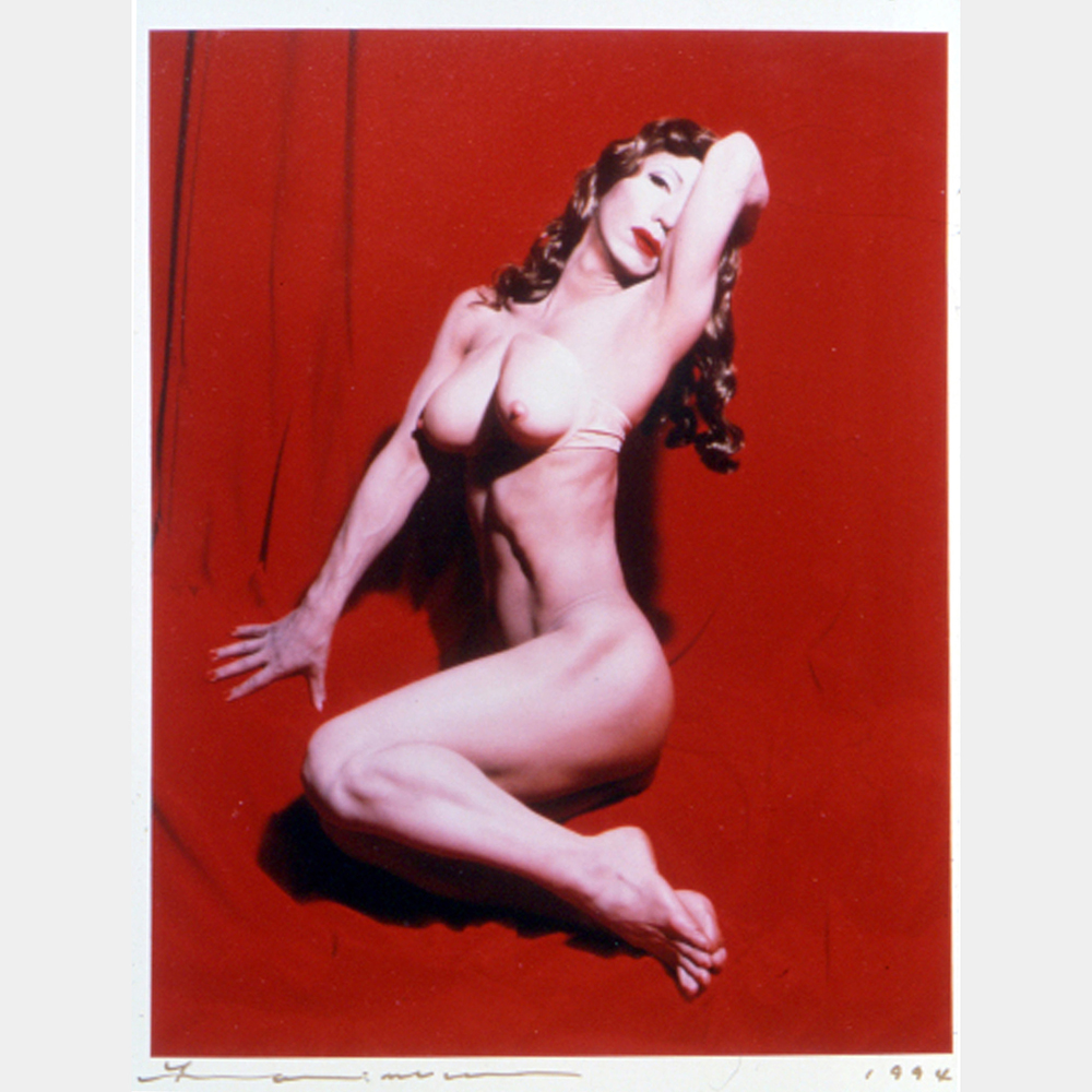 Yasumasa​ ​Morimura,​ ​​Self-portrait ​(Actress) ​/ ​After ​Red ​Marilyn,​​1996.