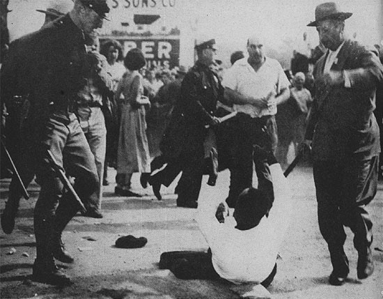 Peekskill Riots, 1949 (photographer unknown)