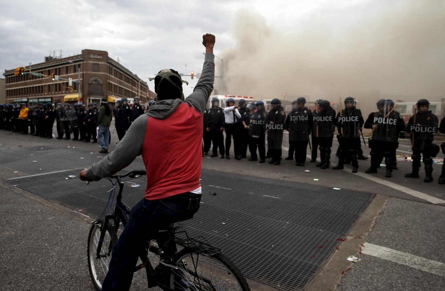 Baltimore Riots after the death of Freddie Gray on 12 April, 2015