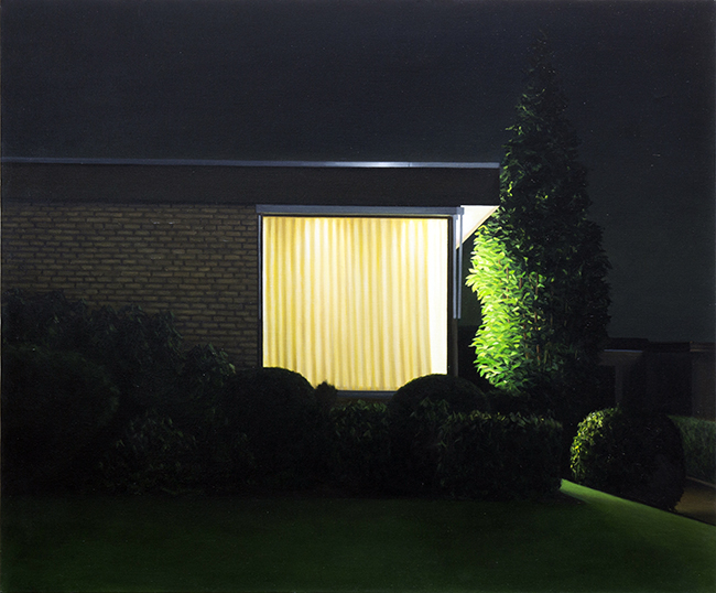 Bungalow in de nacht, 2010 van Arnout Killian