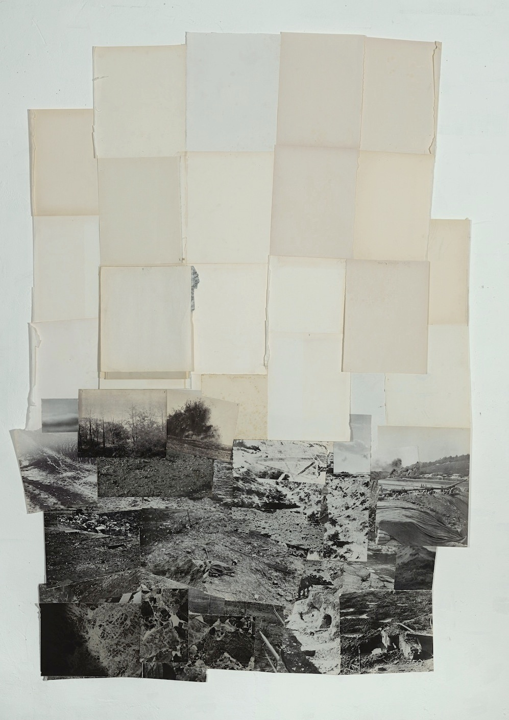 Dieuwke Spaans, Landscape mixed media / collage, 180 x 129 cm