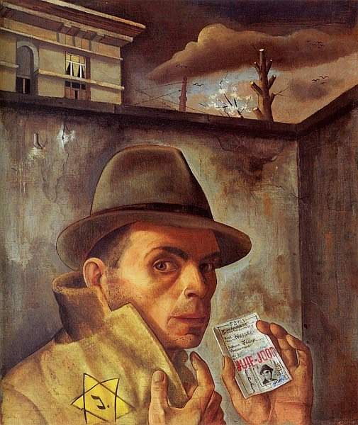 "Felix Nussbaum, ""Self Portrait with Jewish Identity Card"", 1943"