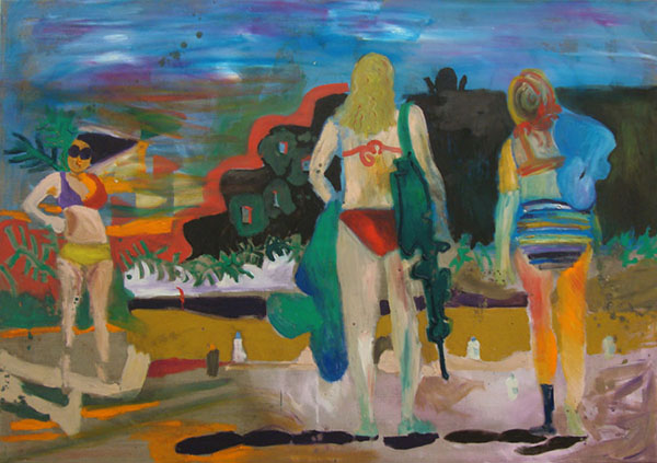 How do I turn sunburn into tan, 2015, 120 x 170 cm, oil on linen