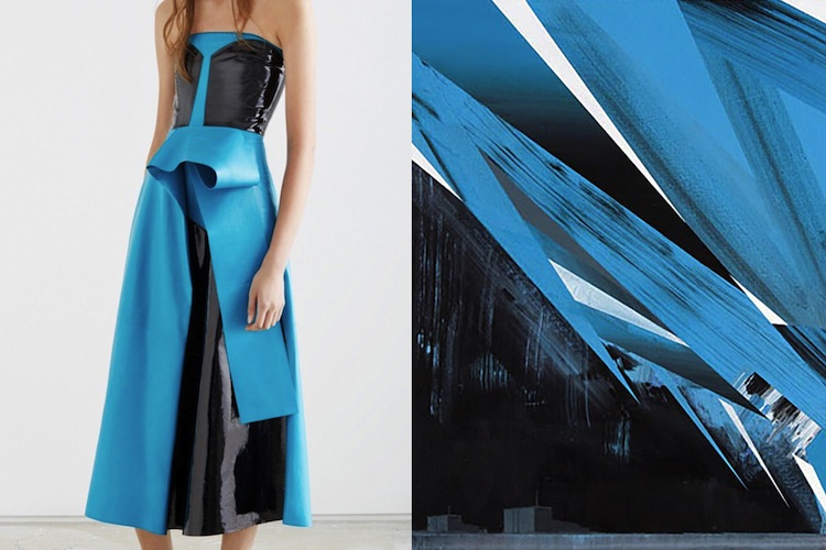 Roksanda Resort 2016 | Olkiluoto series (cyan) by PHIL ASHCROFT, acrylic on canvas, 2008