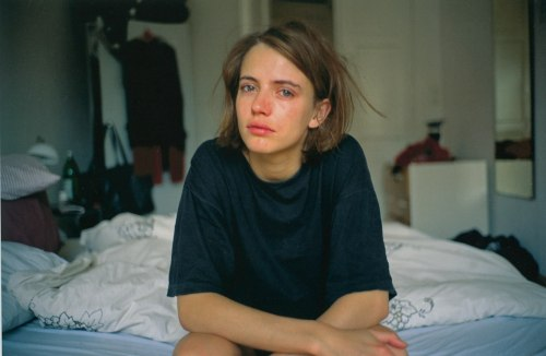 Amanda crying on my bed, Berlin 1992,  Nan Goldin